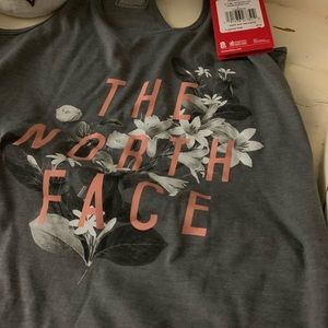 Gray north face tank